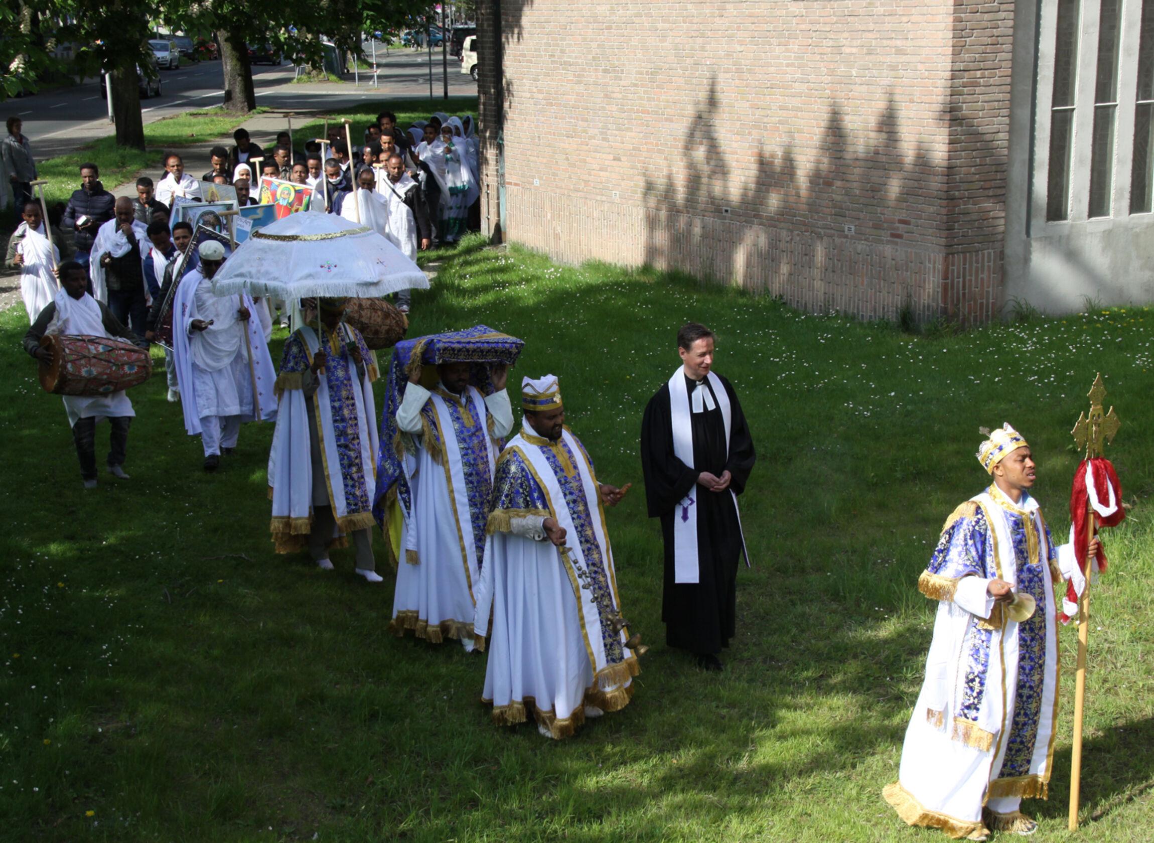 Haus Kirchlicher Dienste Eritreisch Orthodoxe Gemeinde Feiert